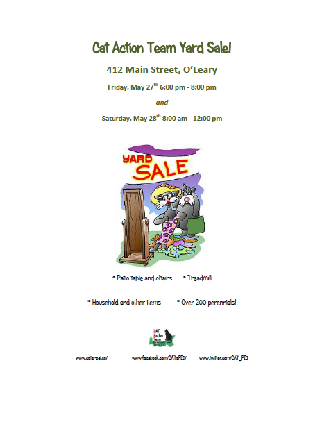 OLeary CAT Yard Sale