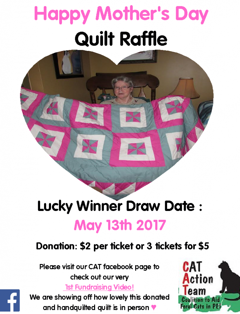 Mothers Day Quilt Raffle