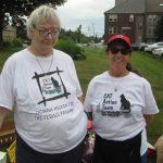 Paula Connolly and Debbie Reid, Yard Sale/Cat Food Drive